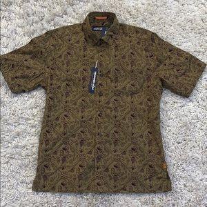 NWT Reyn Spooner Button Down Shirt, Green S